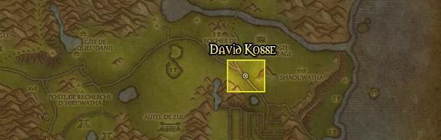 David Kosse se trouve à l'est des Hinterlands