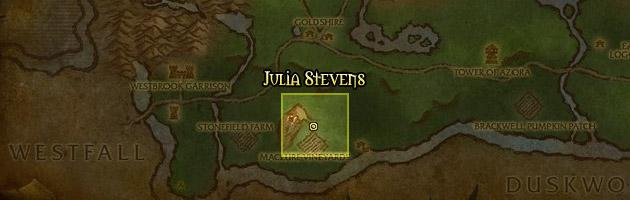Julia Stevens se trouve à proximité d'Hurlevent