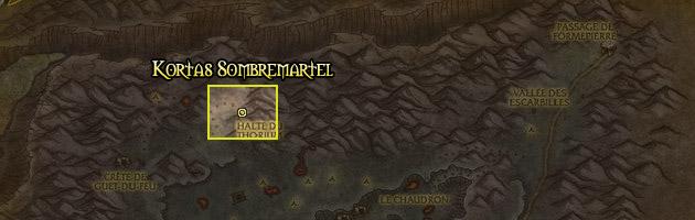 Kortas Sombremartel se trouve dans la Gorge des Vents Brûlants