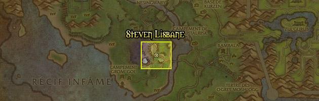 Steven Lisbane se trouve au centre de la Strangleronce septentrionale