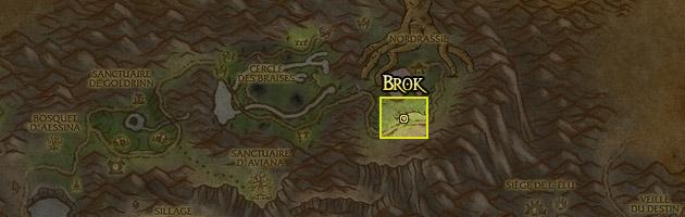 Brok se trouve au Mont Hyjal