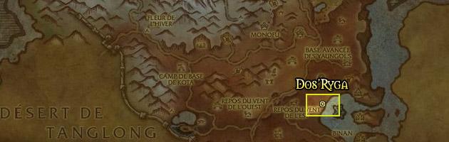 Dos-Ryga se situe au sud de la Vallée des Quatre Vents