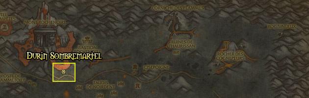 Durin Sombremartel se trouve dans les Steppes Ardentes