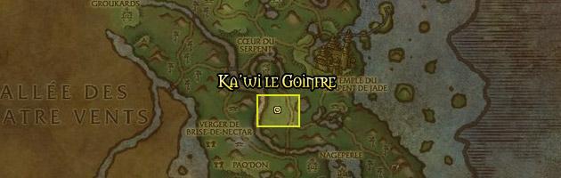 Ka'wi l'affamé vous attend tranquillement au centre de la Forêt de Jade