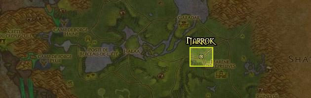 Narrok se trouve à l'est de Nagrand