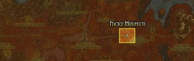 Nicky Minitech se trouve à l'est de la Péninsule des flammes infernales