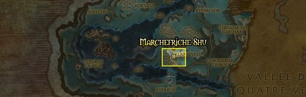 Le Marchefriche Shu se trouve dans les Terres de l'angoisse