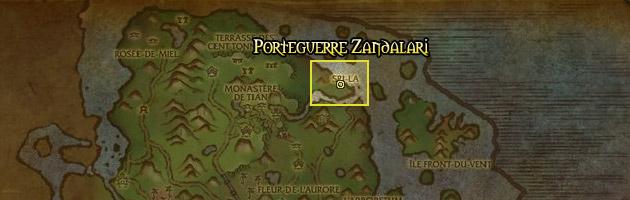 Le Porteguerre Zandalari vous attend près de Sri-La