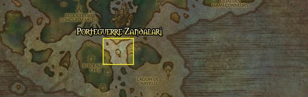 Le Porteguerre Zandalari vous attend au Sud du Temple de la Grue Rouge