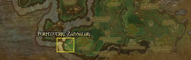 Le Porteguerre Zandalari vous attend près de la pierre de rencontre du Siège du temple de Niuzao