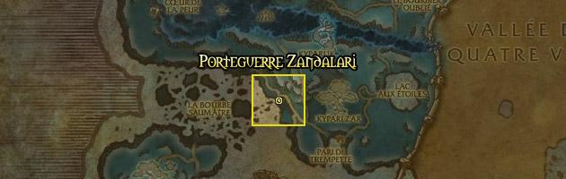 Le Porteguerre Zandalari vous le long de la côte des Terres de l'Angoisse