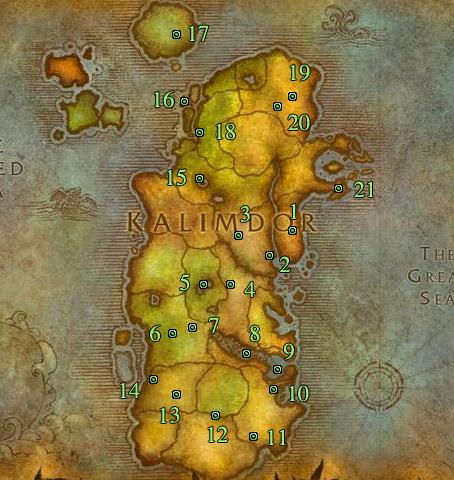 Emplacement des Anciens des Royaumes de l'Est