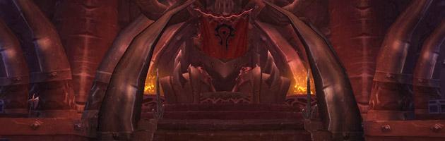 Le trône du Fort Grommash d'Orgrimmar est désormais inoccupé