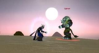 Coucher de soleil en Tanaris avec Gamon