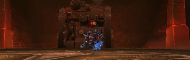 Le Créateur d'engins de siège Boîte-Noire, un boss fait d'acier