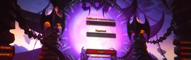 World of Warcraft - Rise of the legion, l'écran de chargement fictif