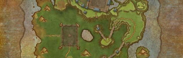 La carte du Tournoi Céleste prenant place sur l'île du Temps figé