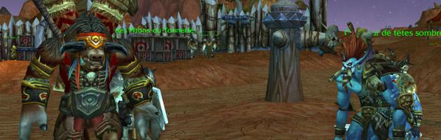 Baine vient en aide à Vol'jin et l'a rejoint à Tranchecolline
