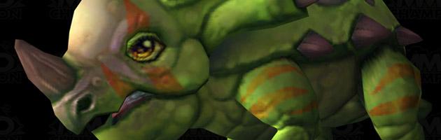 Un nouveau navrecorne vert en mascotte