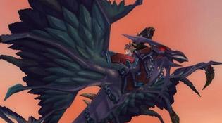 Faucon-dragon rouge cuirassé de la Horde