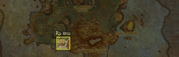 Délogez Ra'sha de sa grotte sur l'Île du tonnerre