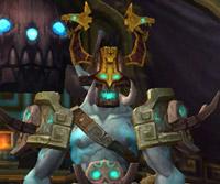 Le Dieu-guerrier Dokah de l'Île des géants