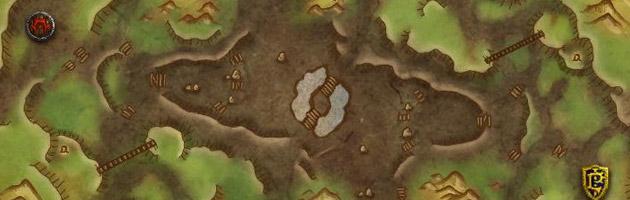 Les bases de la Horde et de l'Alliance du champ de bataille la gorge de Vent-Caverneux !