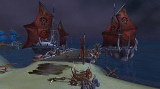 La flotte de la Horde aux Etendues sauvages de Krasarang