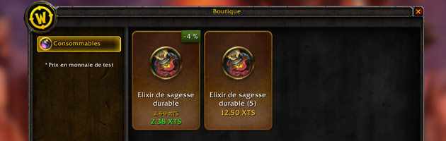 L'item shop de World of Warcraft revêt un nouveau design sur le PTR