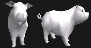 La mascotte Cochon argenté