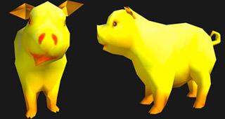 La mascotte Cochon doré