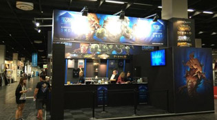 Un des stands Blizzard à la Gamescom