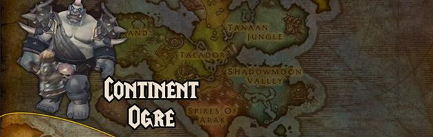 Le continent Ogre se situe au sud de Draenor.