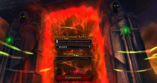 L'écran de connexion de Warlords of Draenor