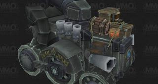 Un tank avec paquets