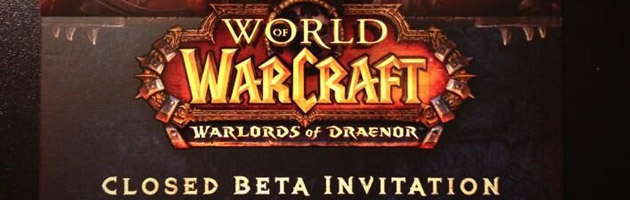 Pass pour la bêta fermée de Warlords of Draenor à la PAX East 2014
