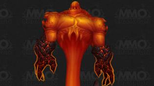 Un élémentaire de feu dans le magma