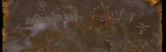 La carte du fief de la Horde