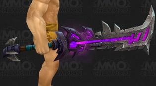 Modèle d'épée pourpre