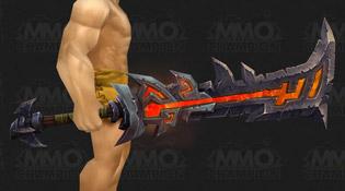 Modèle d'épée rouge