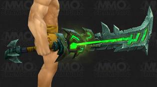 Modèle d'épée vert