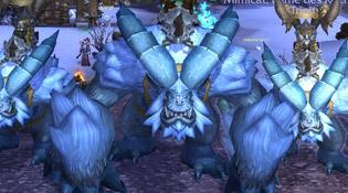 La guilde Trinity et la monture Yeti de guerre du prétendant