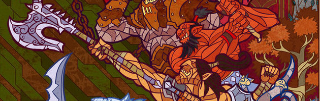Fanart Vitrail Warlords of Draenor par Jian Guo
