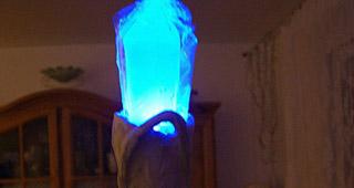 Le bâton Elfe de la nuit éclairé par une Led