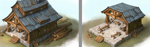 Vous pourrez faire évoluer les bâtiments de vos fiefs