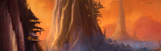 Les Arrakaos viveront dans des cités perchées en haut des flèches d'Arrak