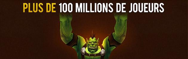 100 millions de comptes uniques ont été créés dans WoW