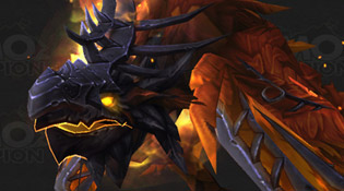Un corbeau de l'effroi tout feu tout flamme