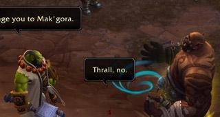Thrall défie Garrosh en Mak'gora