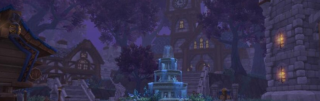 Le fief, baigné dans une douce lumière nocturne typique des nuits de Draenor